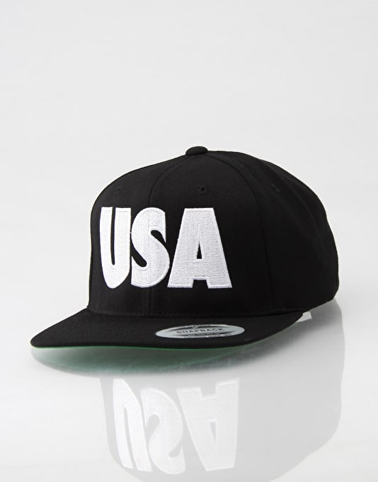 ALL CAPS USA Snapback Cap
