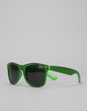 Route One Basics Check Wayfarer Sunglasses - Green/Black