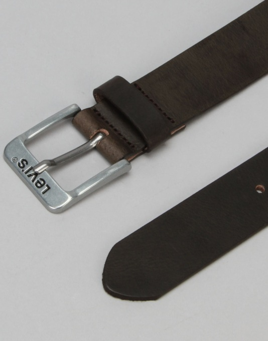 Levis Free Leather Belt - Dark Brown