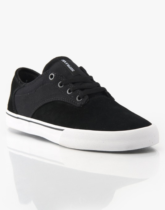 Supra Pistol Skate Shoes - Black/White