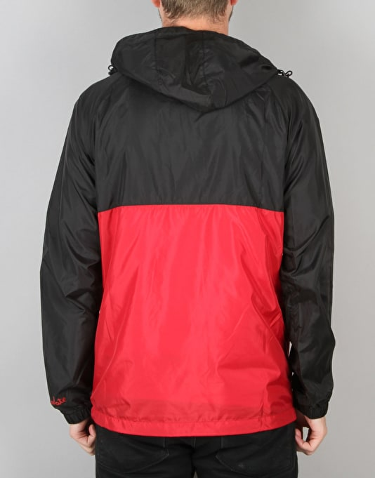 HUF x Chocolate Packable Anorak - Black/Red