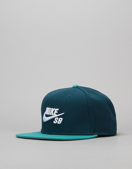 Nike SB Icon Snapback Cap - Midnight Turquoise/Rio Tel/Black/White