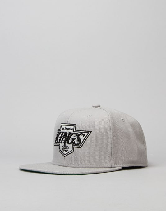 Mitchell & Ness NHL LA Kings Wool Solid Snapback Cap - Grey