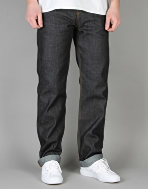 Route One Relaxed Denim Jeans - Rigid Indigo
