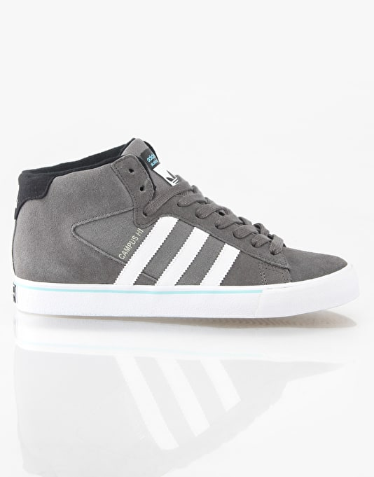 Adidas Campus Vulc Mid Skate Shoes - Cinder/White/Black