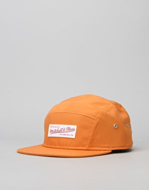Mitchell & Ness Nylon 5 Panel Cap - Orange/White