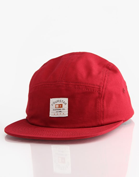 Fourstar Trademark Label 5 Panel Cap - Burgundy