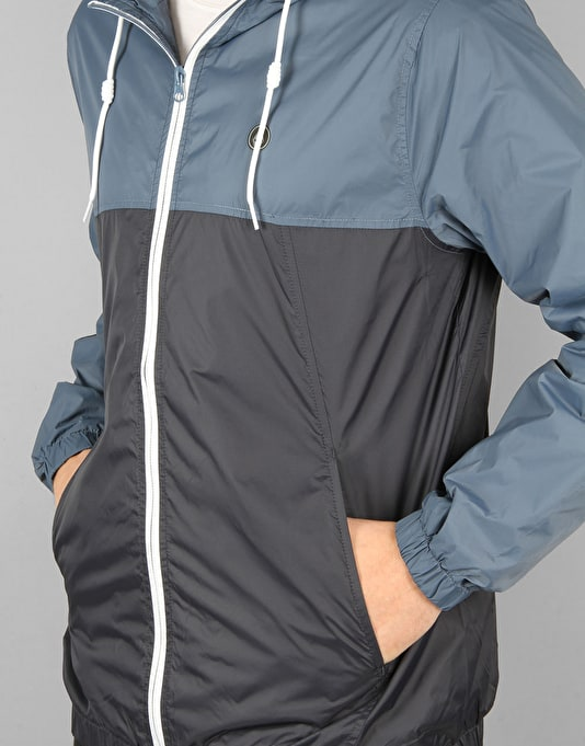 Volcom Ermont II Windbreaker Jacket - Grey/Blue
