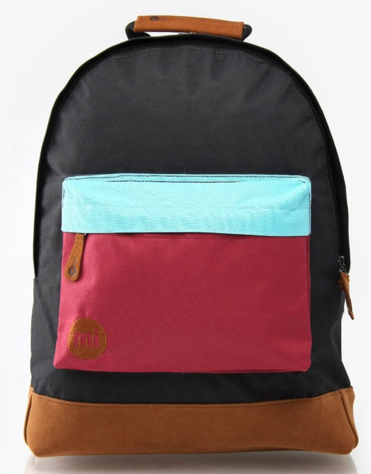 Mi-Pac Tonal Backpack - Black/Teal/Burgundy