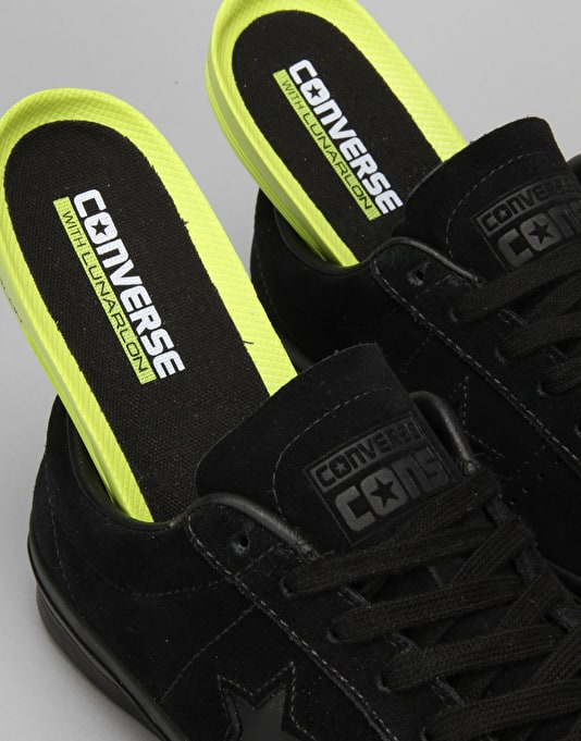 Converse One Star Skate Shoes - Black/Black/Black