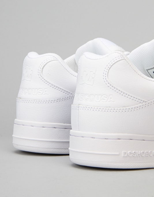 DC Manteca Skate Shoes - White/White/White