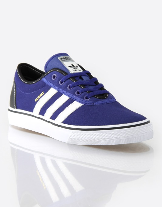 Adidas Adi Ease x Fairfax Skate Shoes - Blue/White