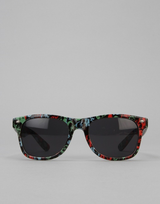 Route One Basics Skulls Wayfarer Sunglasses - Black