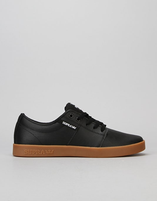Supra Stacks II Skate Shoes - Black/Gum