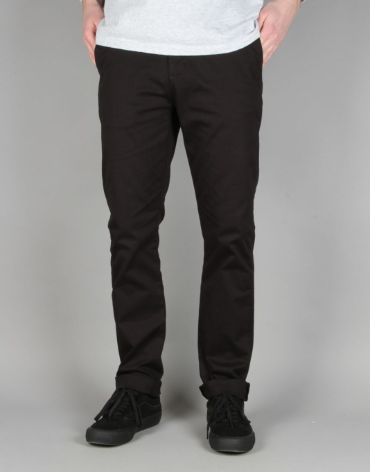 Route One Slim Fit Chinos - Black  913bbe117