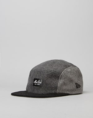 New Era Two Tone Camper 5 Panel Cap - Grey/Graphite