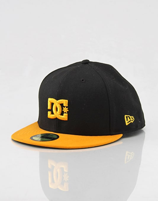 DC Empire SE New Era Fitted Cap - Black Yellow