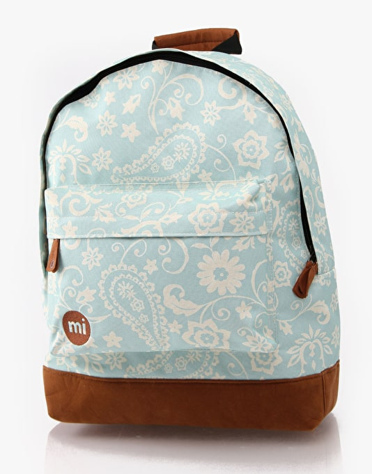 Mi-Pac Floral Backpack - Vintage Blue