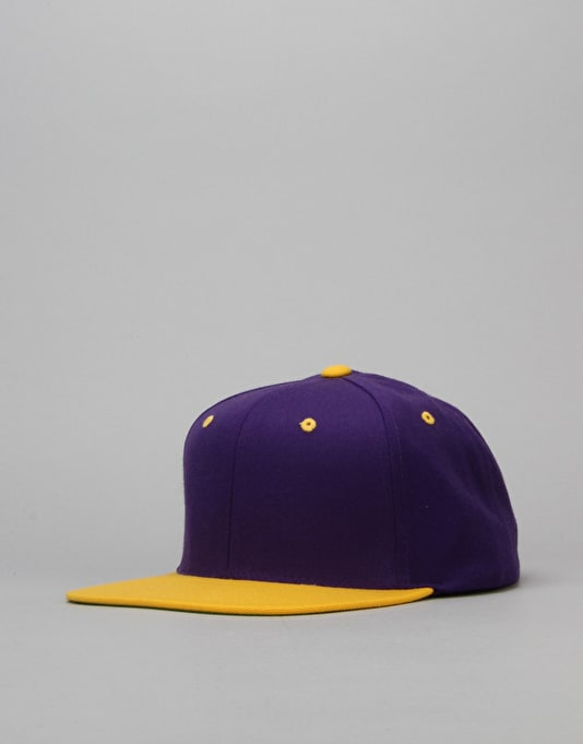 R1 Basics Two Tone Snapback Cap - Purple/Gold