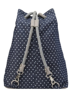 Mi-Pac Demin Spot Kit Bag - Indigo/White
