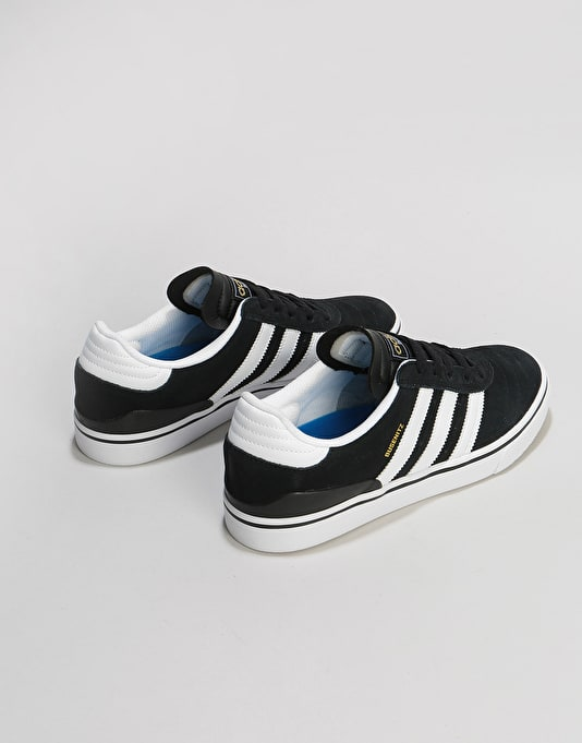 Adidas Busenitz Vulc Skate Shoes - Black/Running White/Black