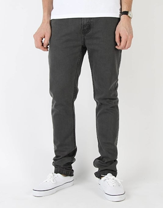 Route One Skinny Denim Jeans - Soft Black
