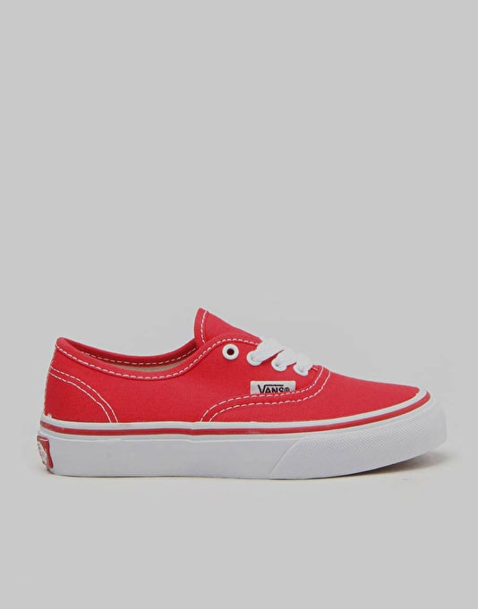 Vans Authentic Boys Shoes - Red