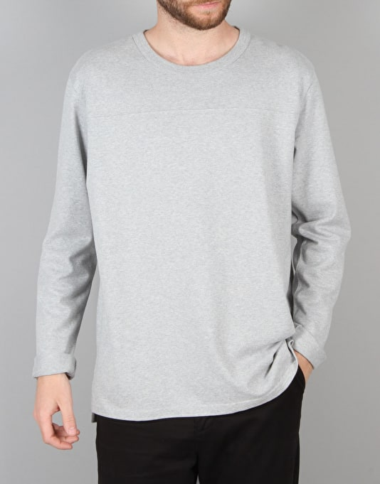 Levi's Skateboarding L/S Football Shirt - Rollerskate Grey Heather