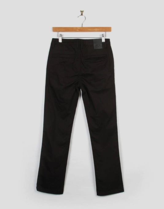 Route One Slim Fit Boys Chinos - Black