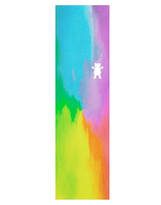 "Grizzly Water Tie Dye Die Cut Bear 9"" Grip Tape Sheet"