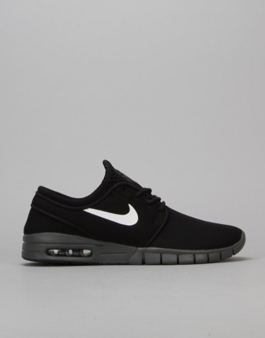 Nike SB Stefan Janoski Max Shoes - Black/White-Drk Grey White
