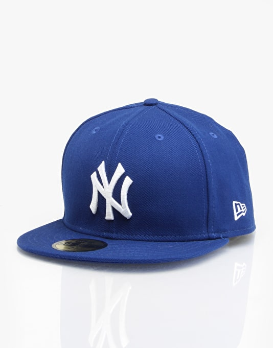 New Era MLB NY Yankees Basic Fitted Cap - Royal/White