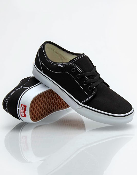Vans 106 Vulc Skate Shoes - Black/White