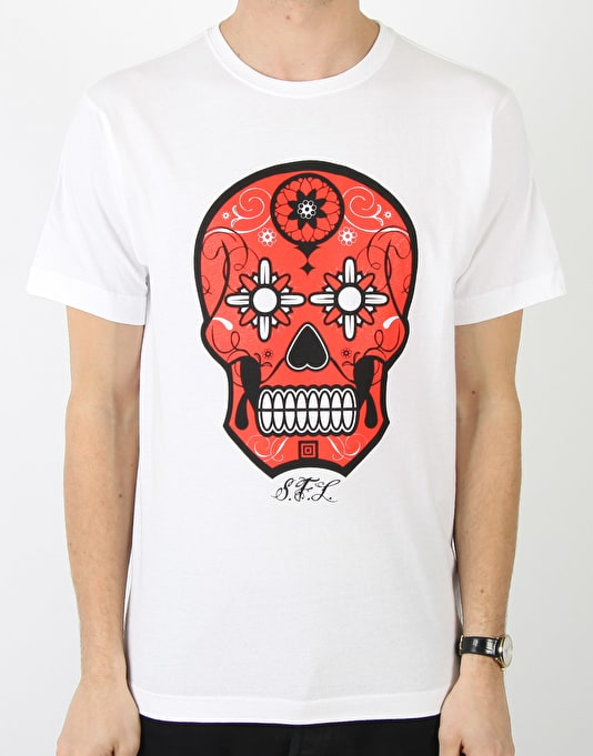 Scarred For Life Calavera Sugar Skull T-Shirt
