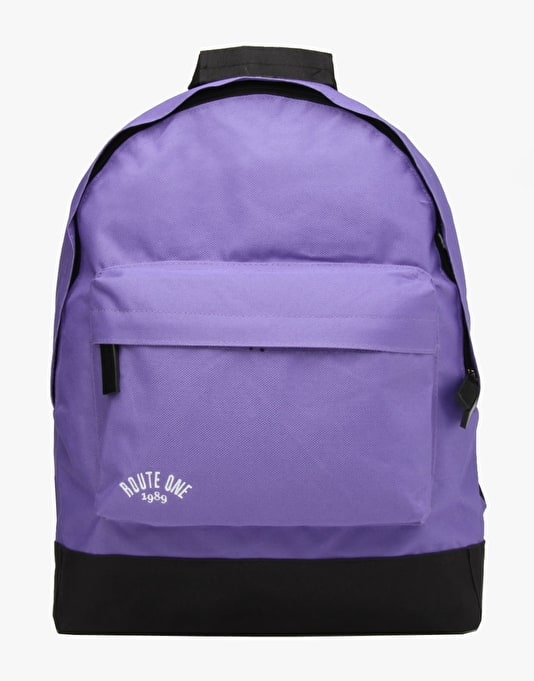 Route One Backpack - Purple/Black