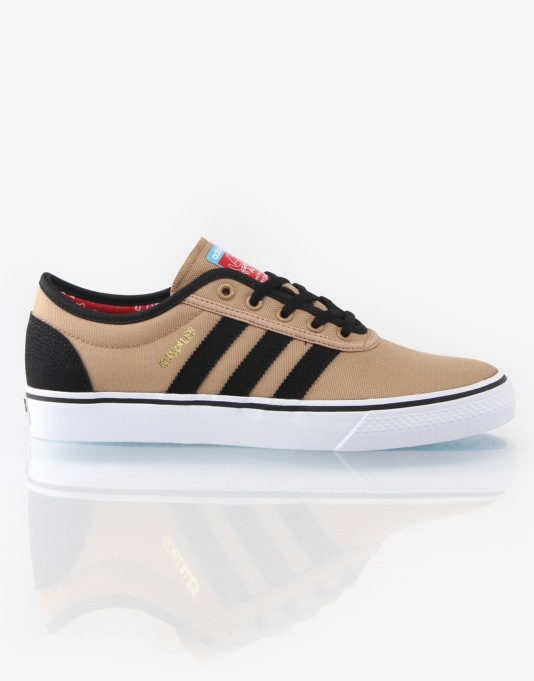 Adidas Adi Ease Gonz Skate Shoes - Canvas/Black/Uni Red