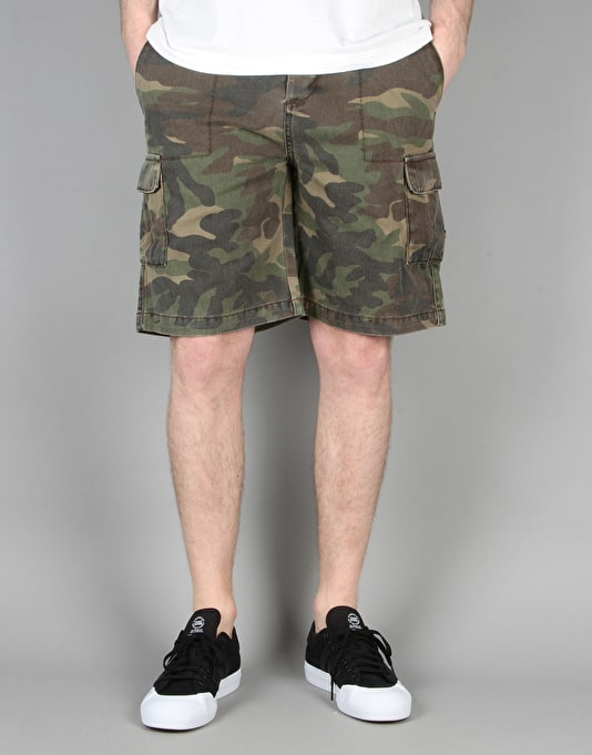 Route One Slim Cargo Shorts - Faded Camo