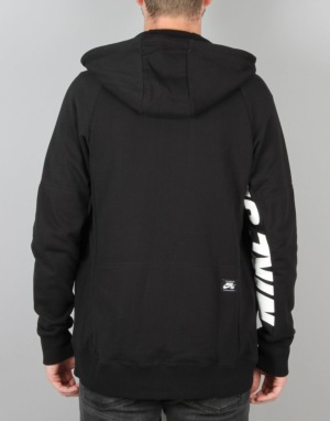 Nike SB Everett Graphic Full-Zip Hoodie - Black/White