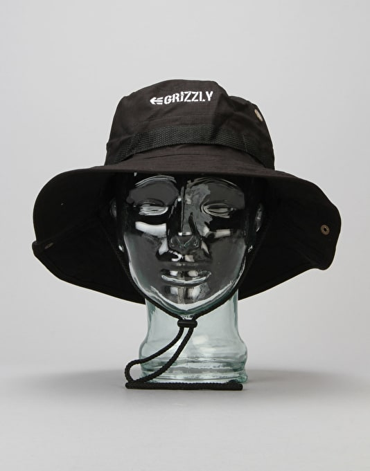 Etnies x Grizzly Boonie Bucket Hat - Black