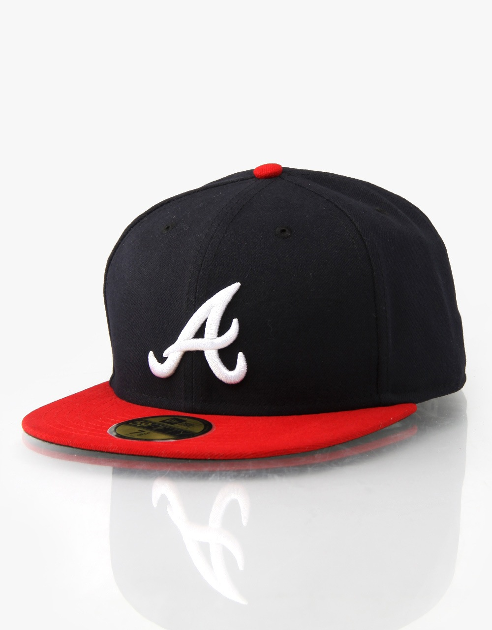 New Era 59Fifty MLB Atlanta Braves Fitted Cap - Navy Red White ... e7243c59afc5