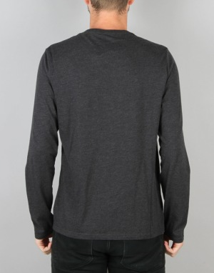 Converse Core Left Chest CP L/S T-Shirt - Black Heather