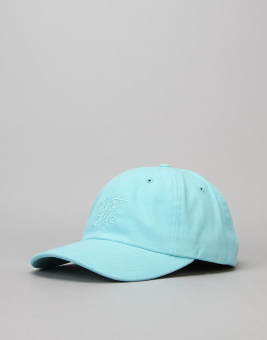The Quiet Life Cursive Polo Strapback Cap - Ocean