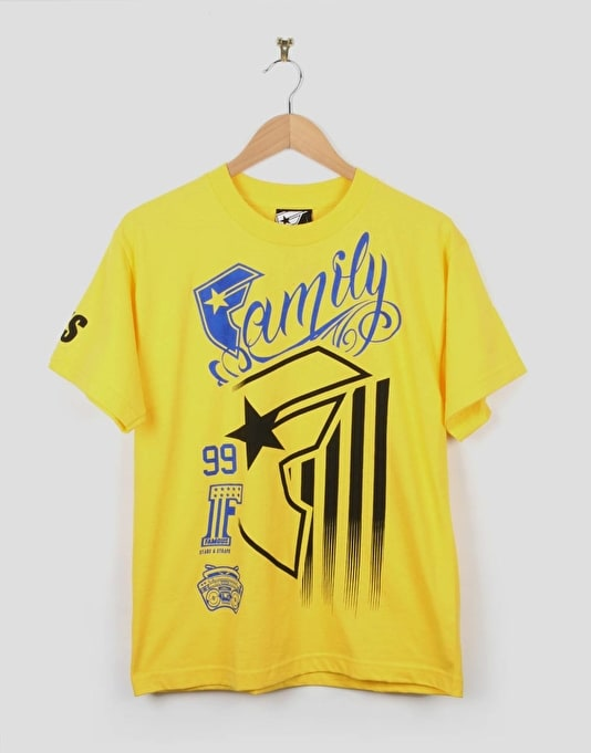 Famous Stripe Rally Boys T-Shirt - Yellow