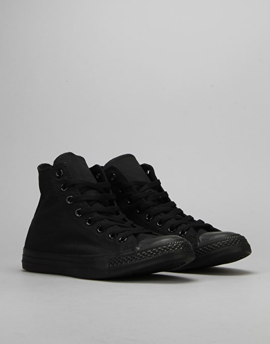 Converse All Star Hi-Top Monochrome Trainers - Black
