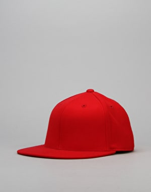 Route One Blank Fitted Cap - Red