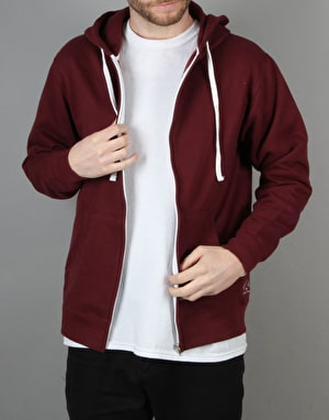 Route One Basic Zip Hoodie - Burgundy