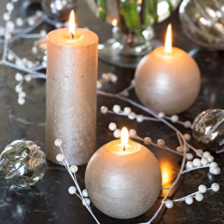 Lustre Champagne Candles