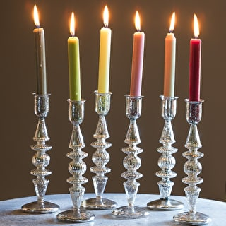 Antiqued Silver Candlestick