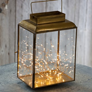 Antiqued Brass Lantern