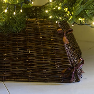 Square Wicker Tree Skirt